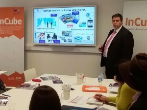 Bob Davidson, Chief Executive of Renfrewshire Chamber of Commerce has visited InCube